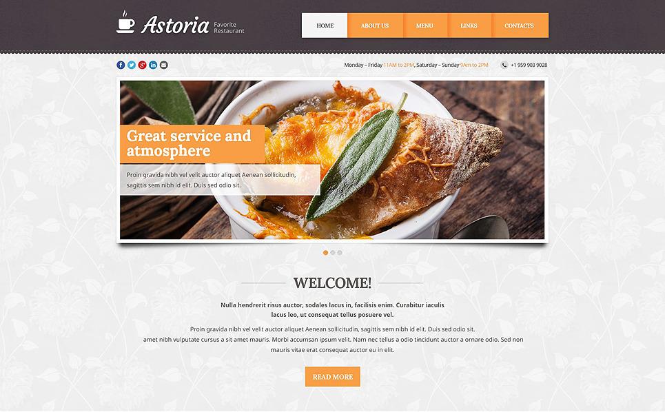 Responzivní Šablona webových stránek na téma Kavárny a Restaurace New Screenshots BIG