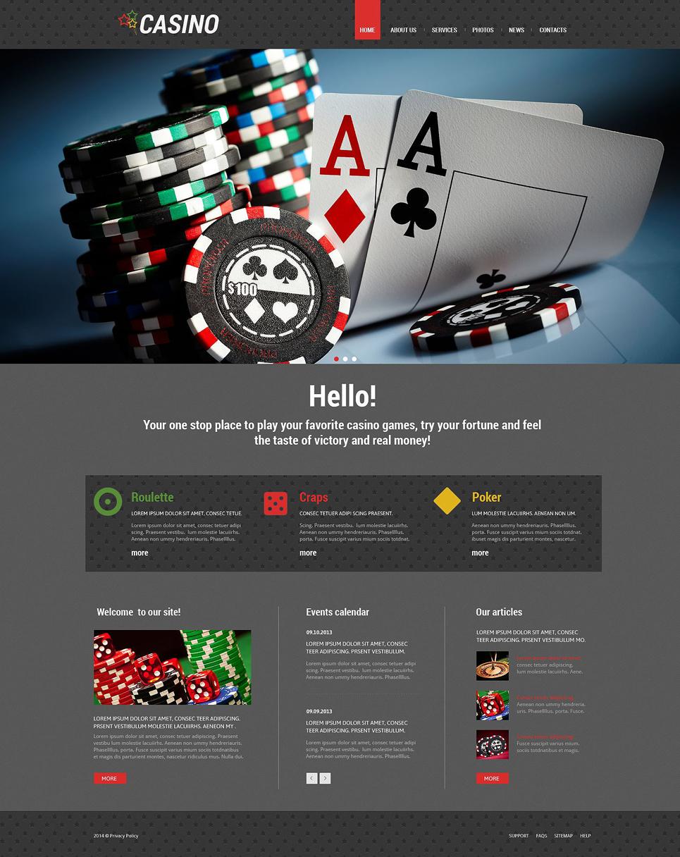Адаптивный шаблон сайта на тему онлайн-казино #55168
