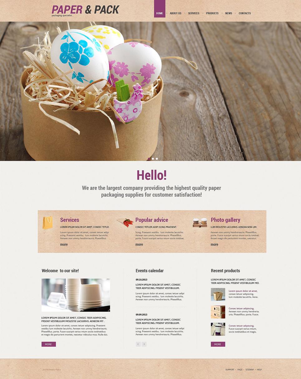 Адаптивный шаблон сайта на тему упаковочные материалы #55169