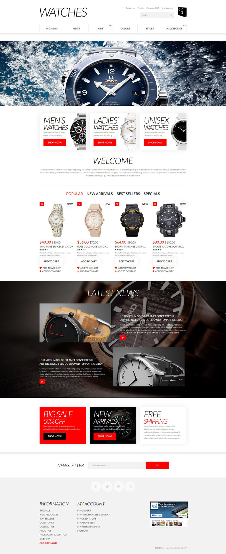 Apparel PrestaShop Theme New Screenshots BIG