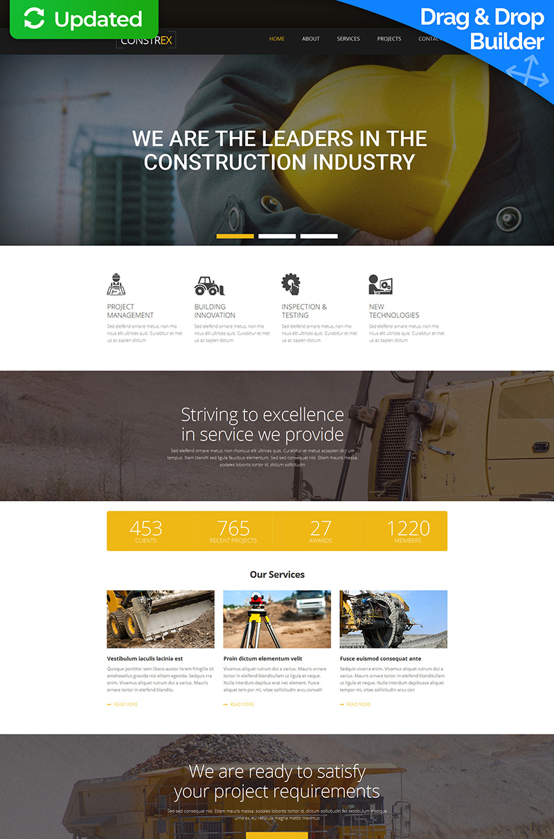 Architecture Responsive Moto CMS 3 Template - screenshot