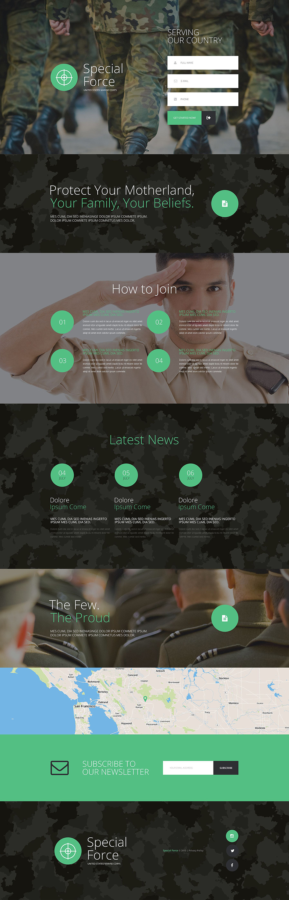 Army Responsive Landing Page Template New Screenshots BIG