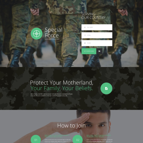 Special Force - Responsive Landing Page Template