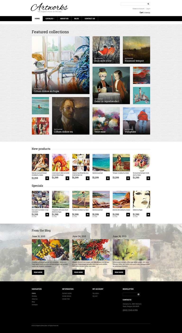 Artworks VirtueMart Template New Screenshots BIG