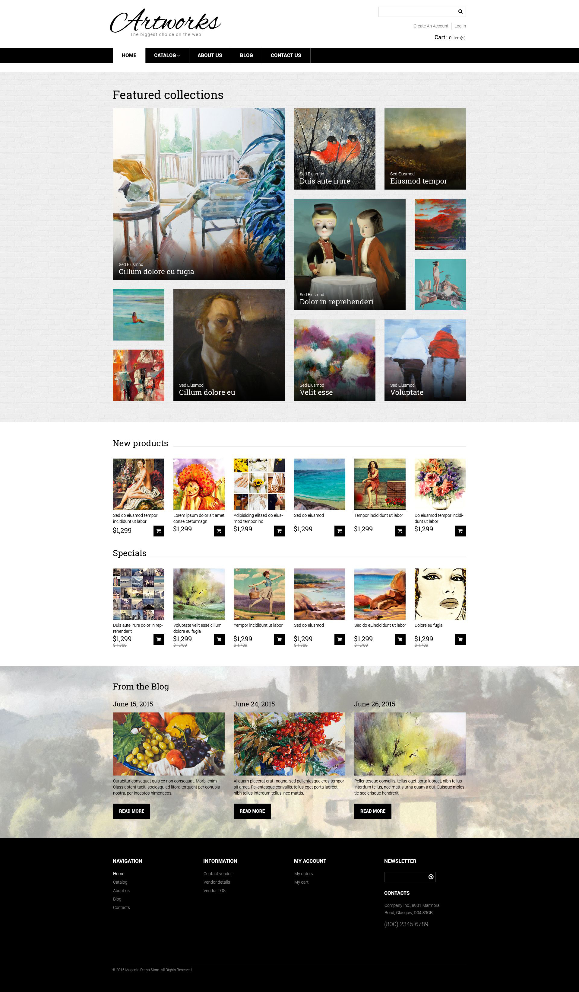 Artworks VirtueMart Template - screenshot