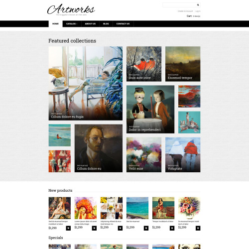 Artworks - VirtueMart Template based on Bootstrap