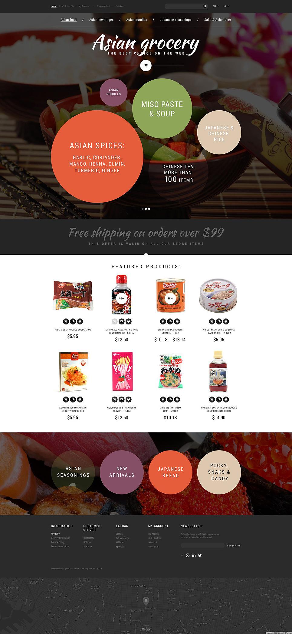 Asian Grocery Store OpenCart Template New Screenshots BIG