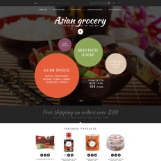 Grocery store responsive opencart template 63347 asian grocery store toneelgroepblik Image collections