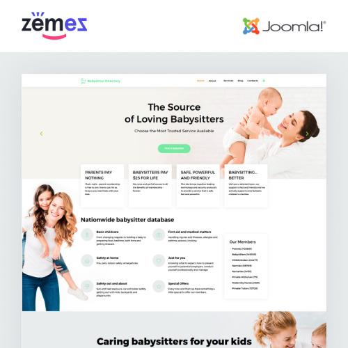 Babysitter Directory - Responsive Joomla! Template