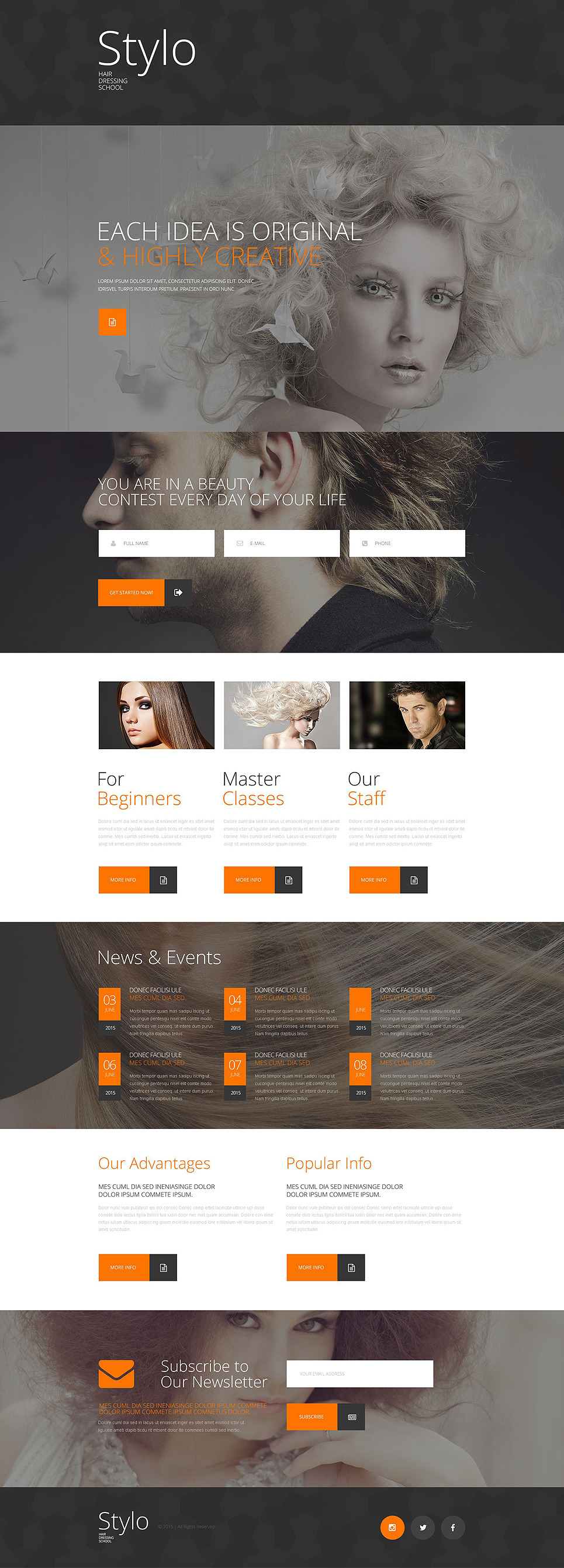 Beauty School Responsive Landing Page Template New Screenshots BIG