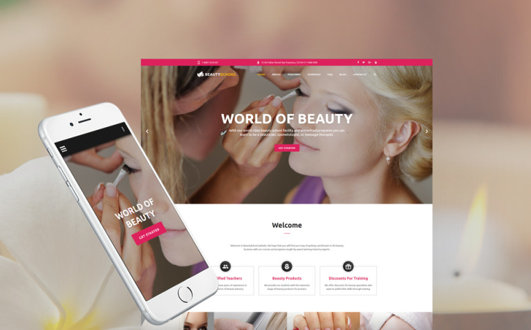 Beauty School Responsive Website Template New Screenshots BIG