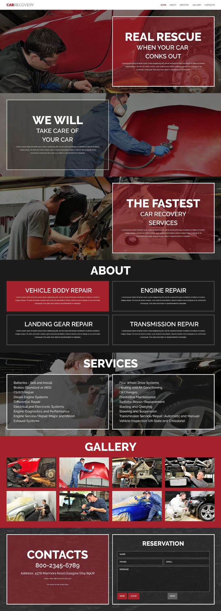 Car Repair Facility Website Template New Screenshots BIG