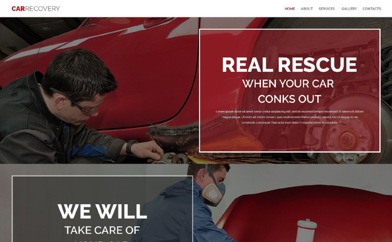 Car Repair Facility Website Template
