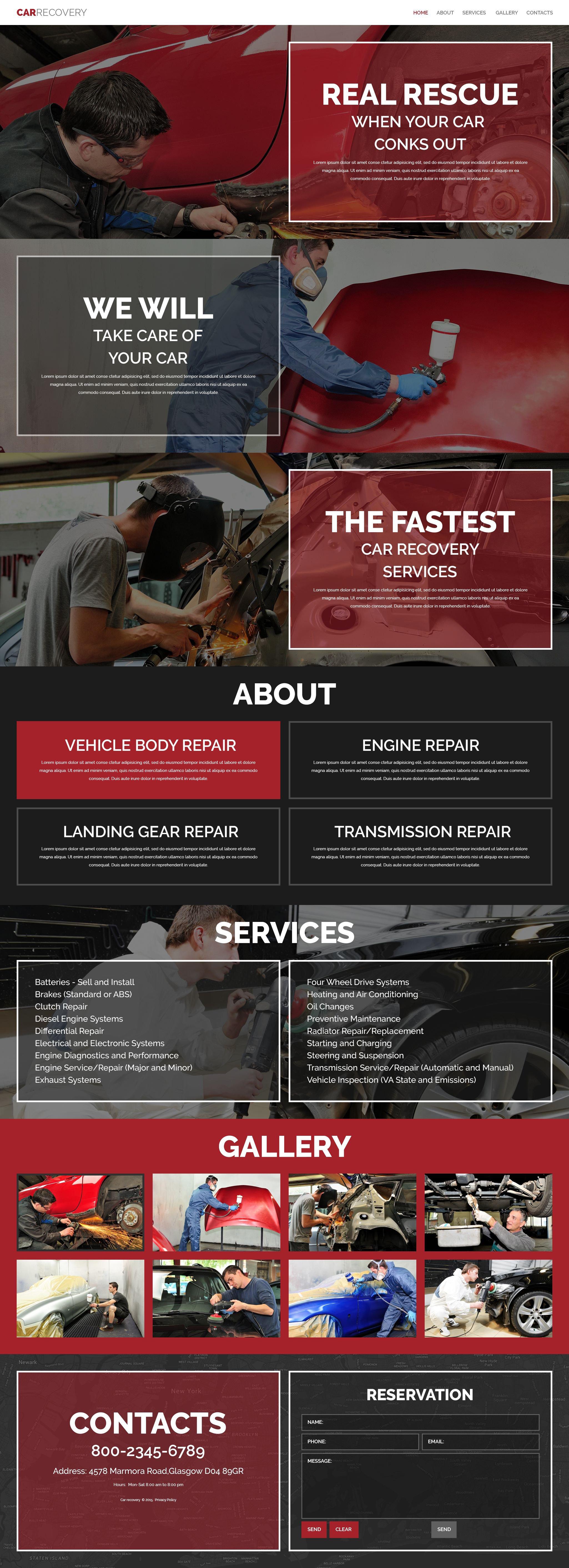 Car Repair Facility Website Template - screenshot