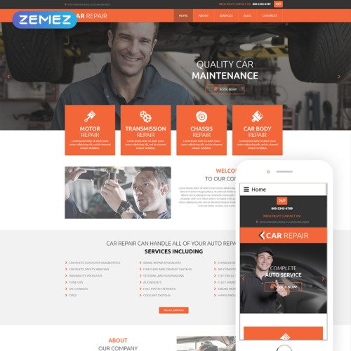 Car Repair - Responsive Joomla! Template