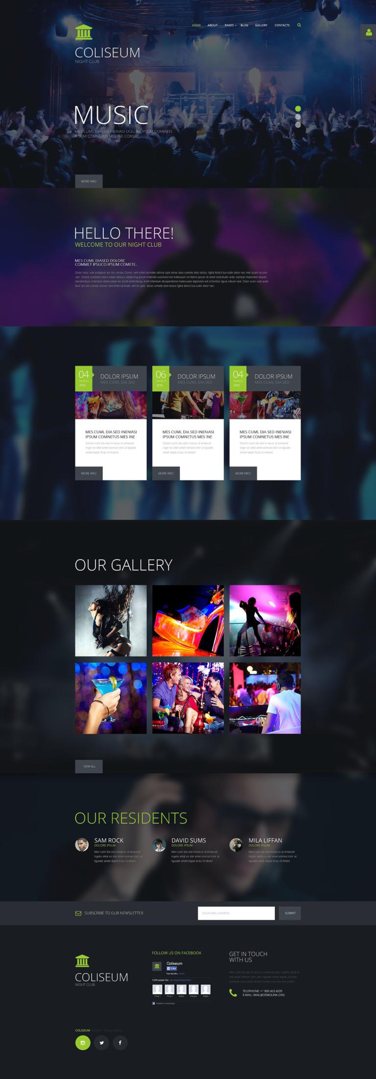 Coliseum Joomla Template New Screenshots BIG