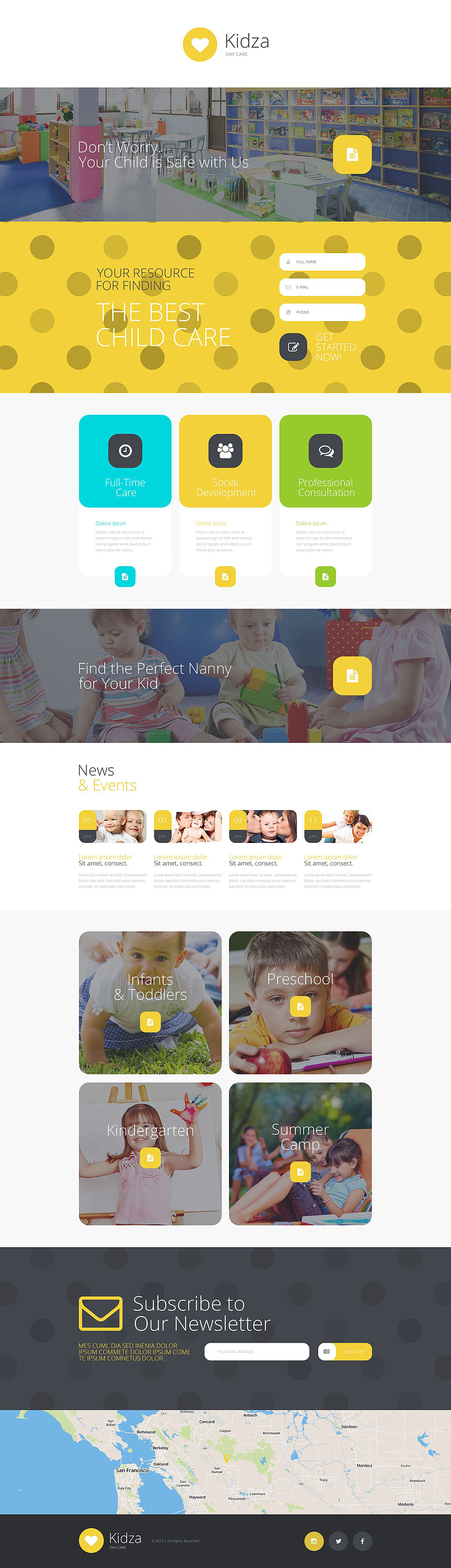 Day Care Responsive Landing Page Template New Screenshots BIG