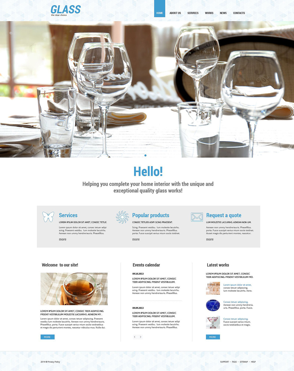 Dishes WordPress Theme New Screenshots BIG