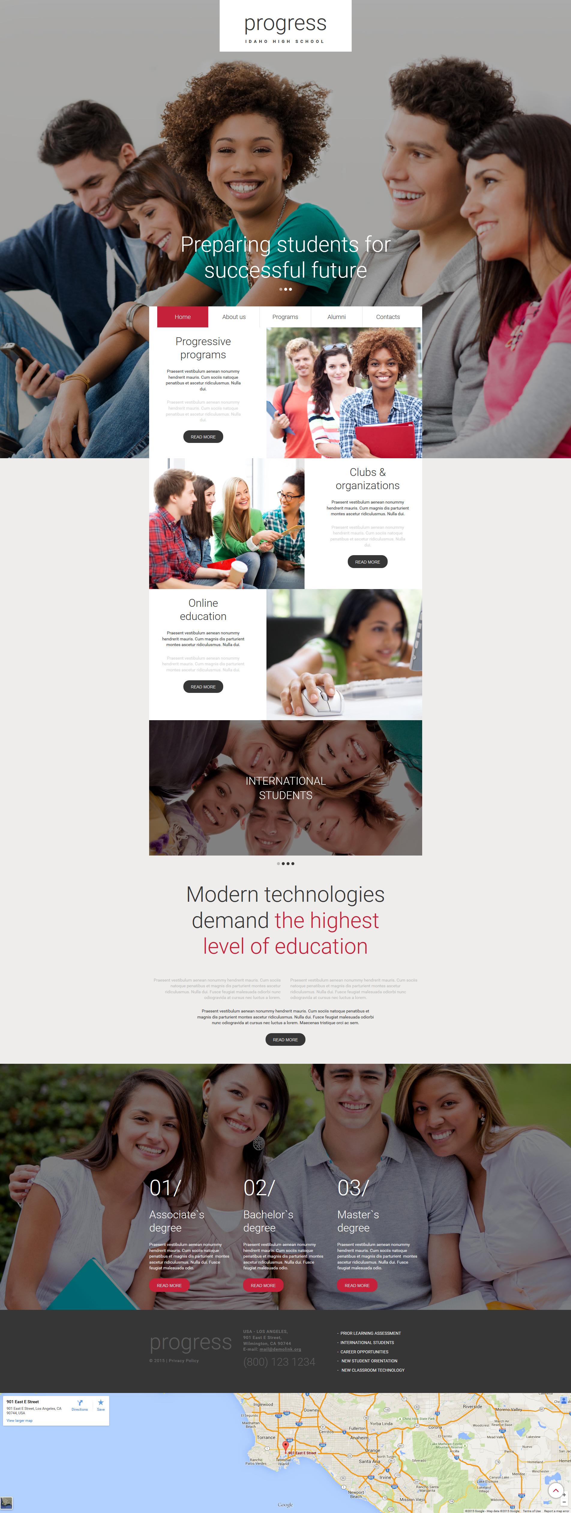 Education Responsive Moto CMS 3 Template