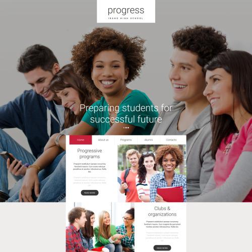 Progress - MotoCMS 3 Template based on Bootstrap