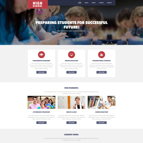 High School - MotoCMS 3 Template based on Bootstrap