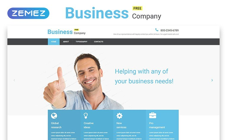 Free business responsive website template flashek