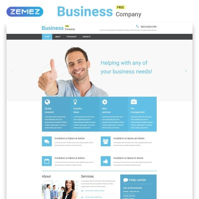 Free business responsive website template business responsive website template wajeb Image collections