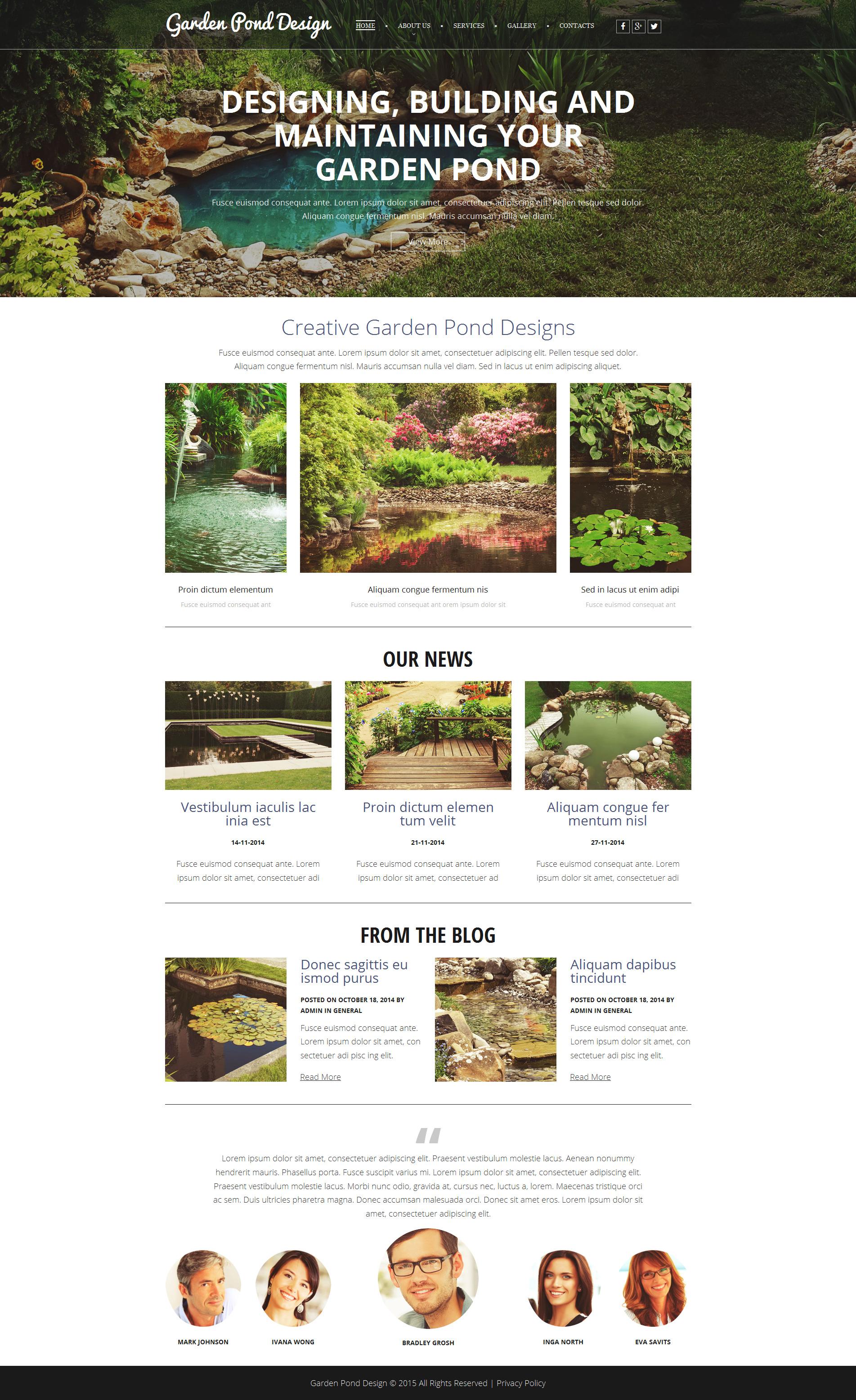 Garden Design Responsive Moto CMS 3 Template