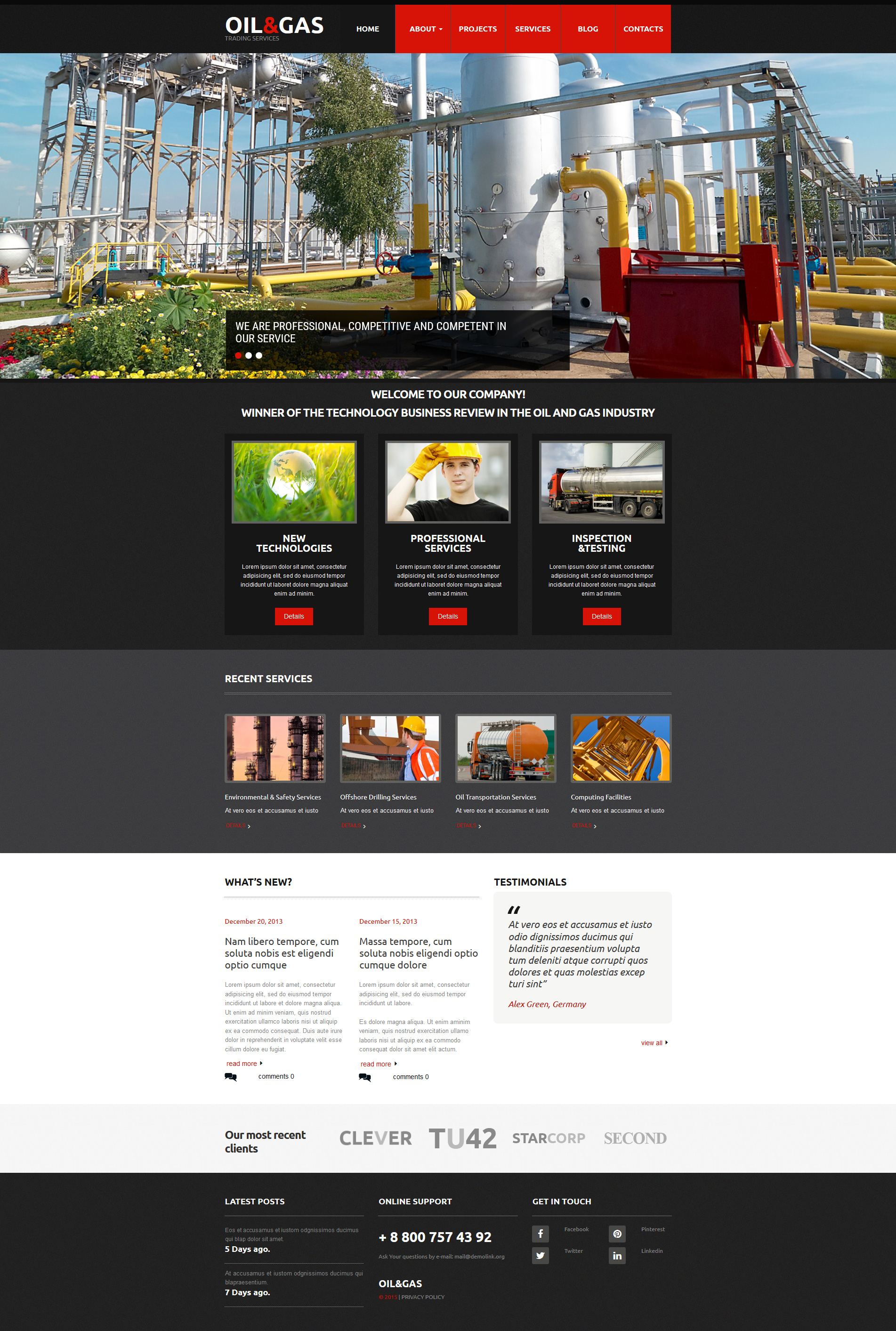 build a website for gas and oil company responsive moto cms 3 template 55125. Black Bedroom Furniture Sets. Home Design Ideas