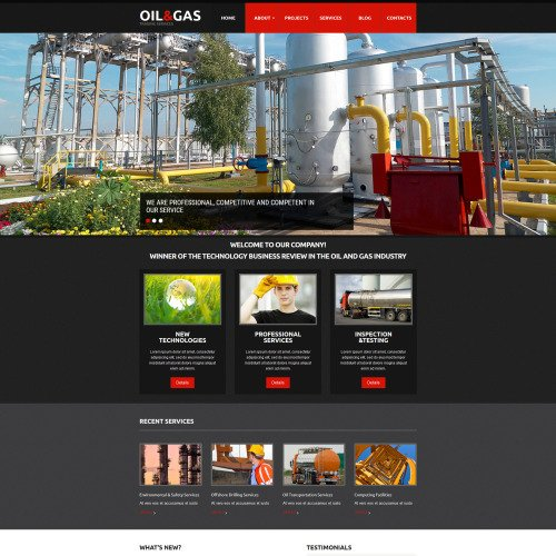 Oil & Gas - MotoCMS 3 Template based on Bootstrap