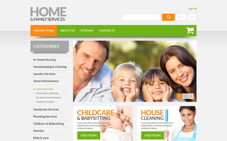 Home & Family Services PrestaShop Theme