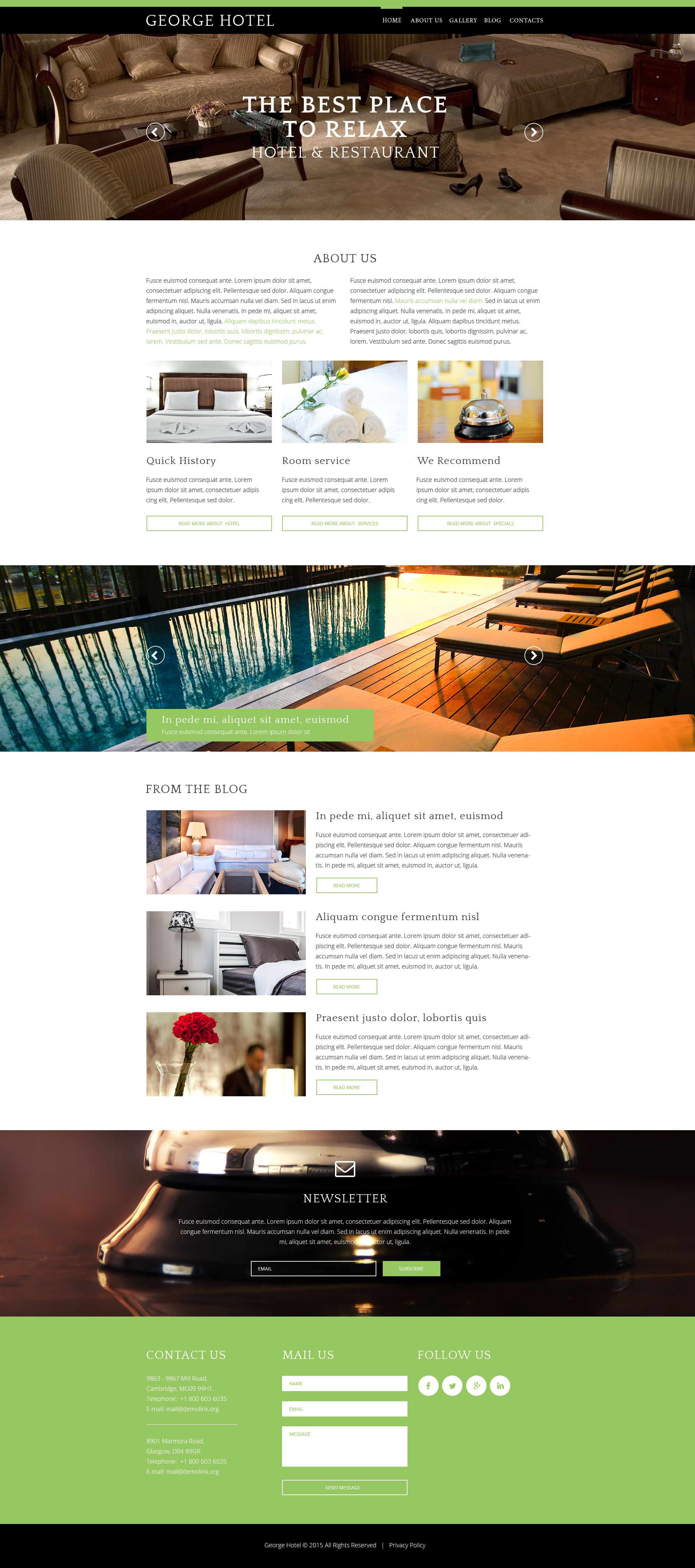 Hotels Drupal Template - screenshot