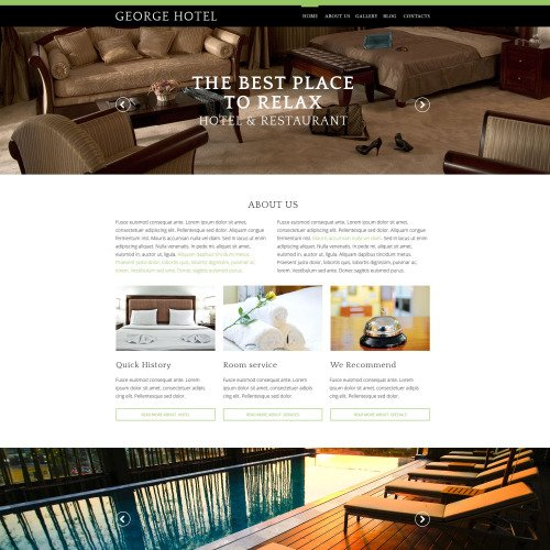 George Hotel - Responsive Drupal Template
