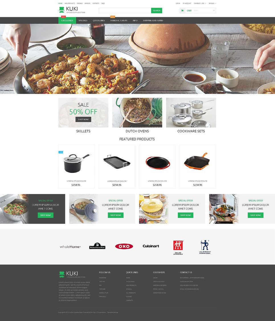 Housewares Responsive ZenCart Template New Screenshots BIG