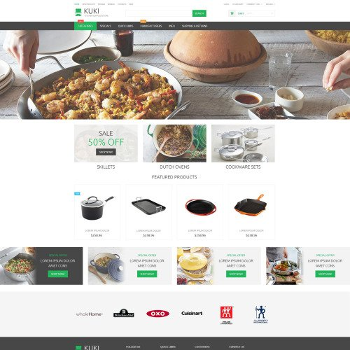 Kuki - ZenCart Template based on Bootstrap