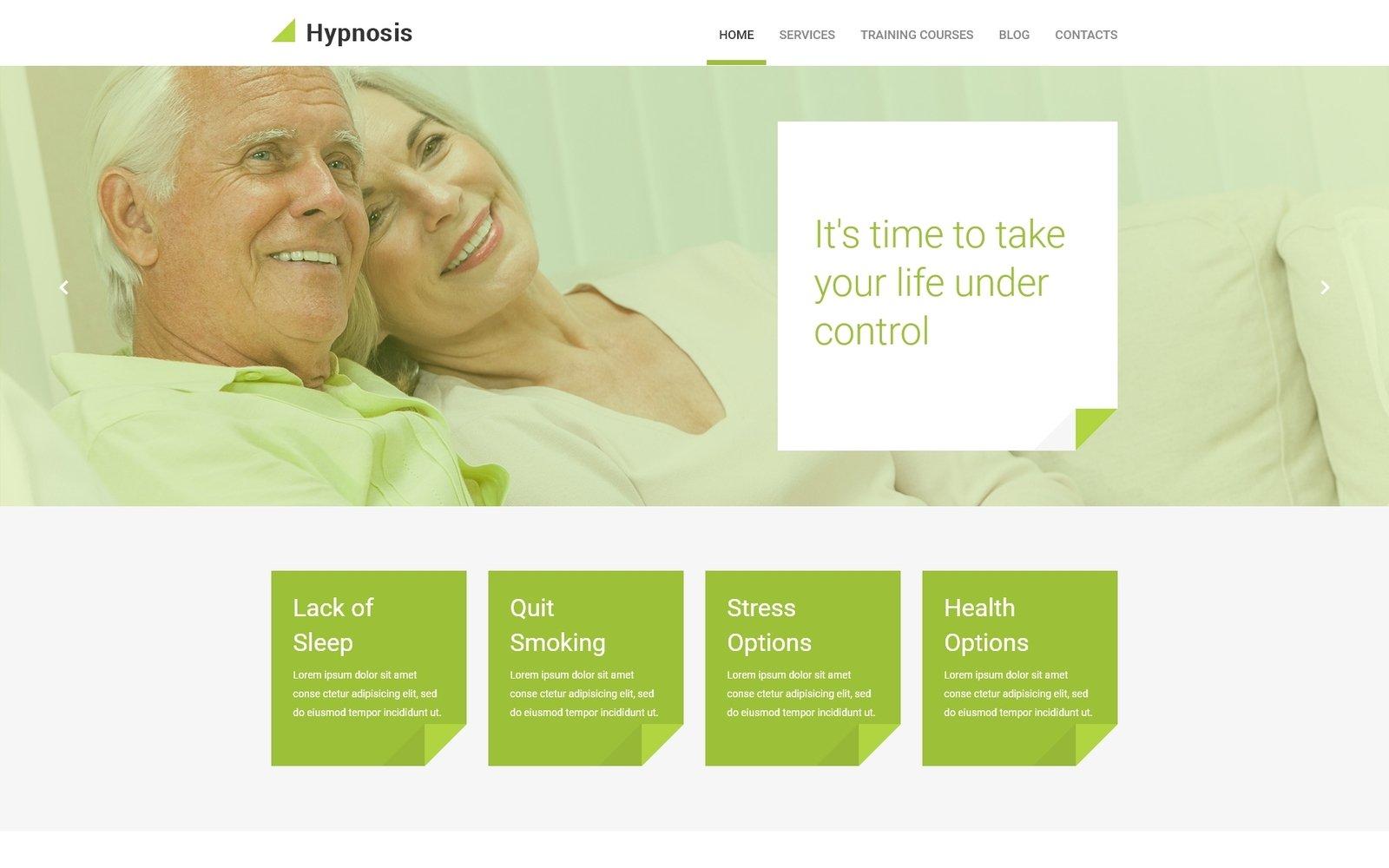 """""""Hypnosis"""" - адаптивний WordPress шаблон №55142 - скріншот"""