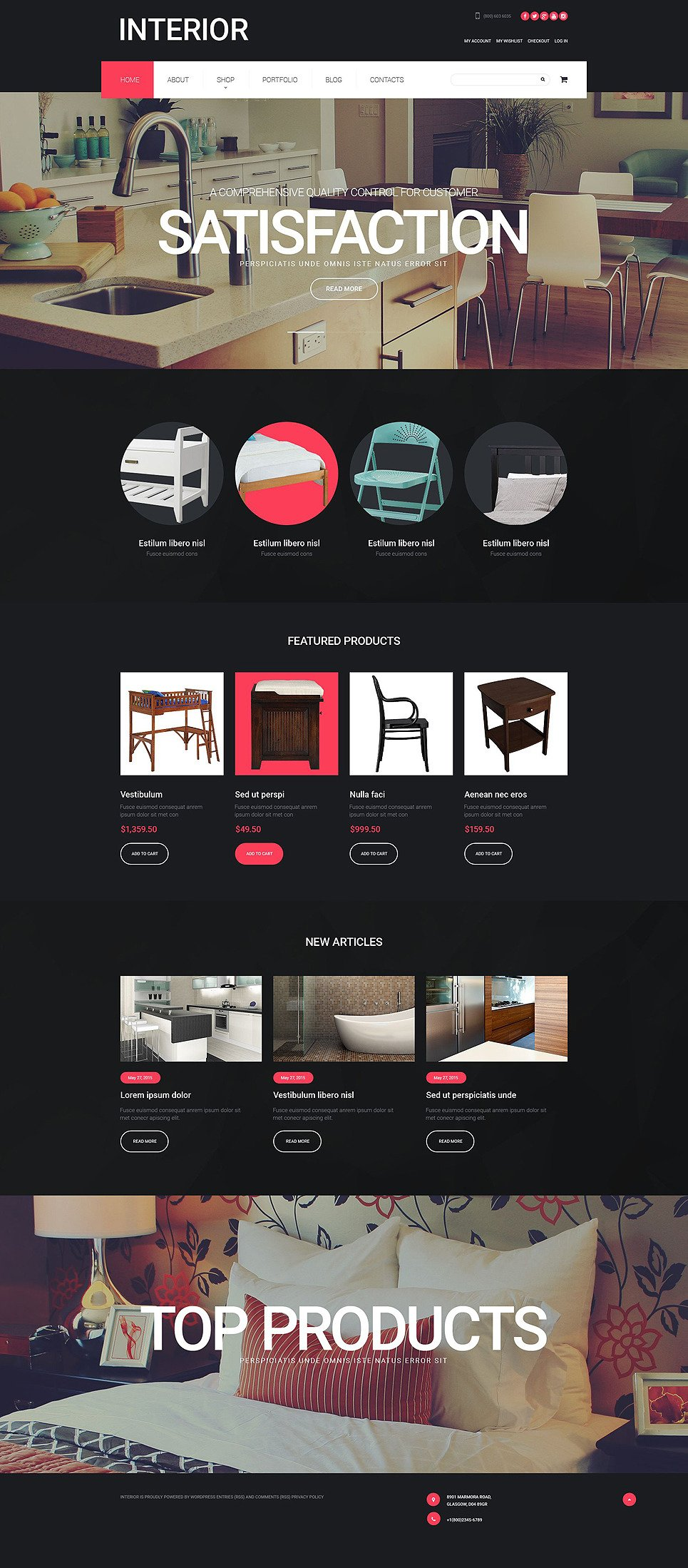 Interior Design WooCommerce Theme New Screenshots BIG