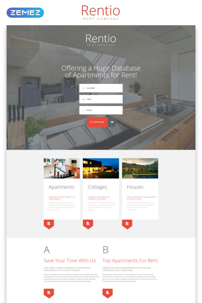 Real Estate Agency Responsive Template Di Landing Page