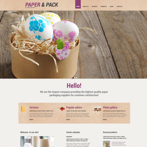 Paper & Pack - WordPress Template based on Bootstrap