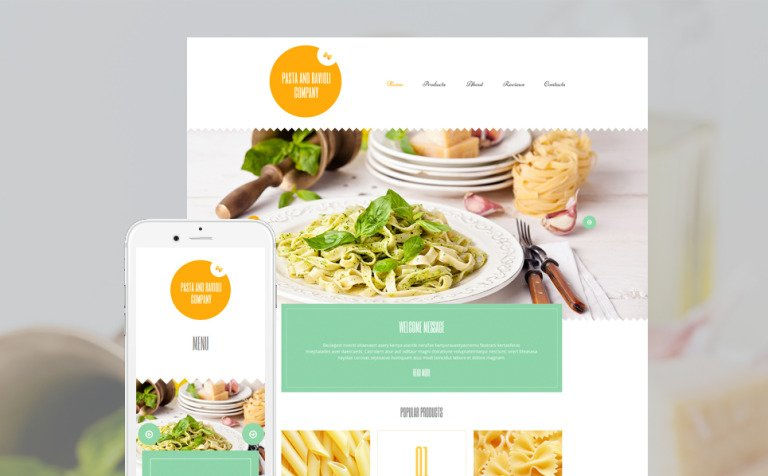 Pasta and Ravioli Company WordPress Theme