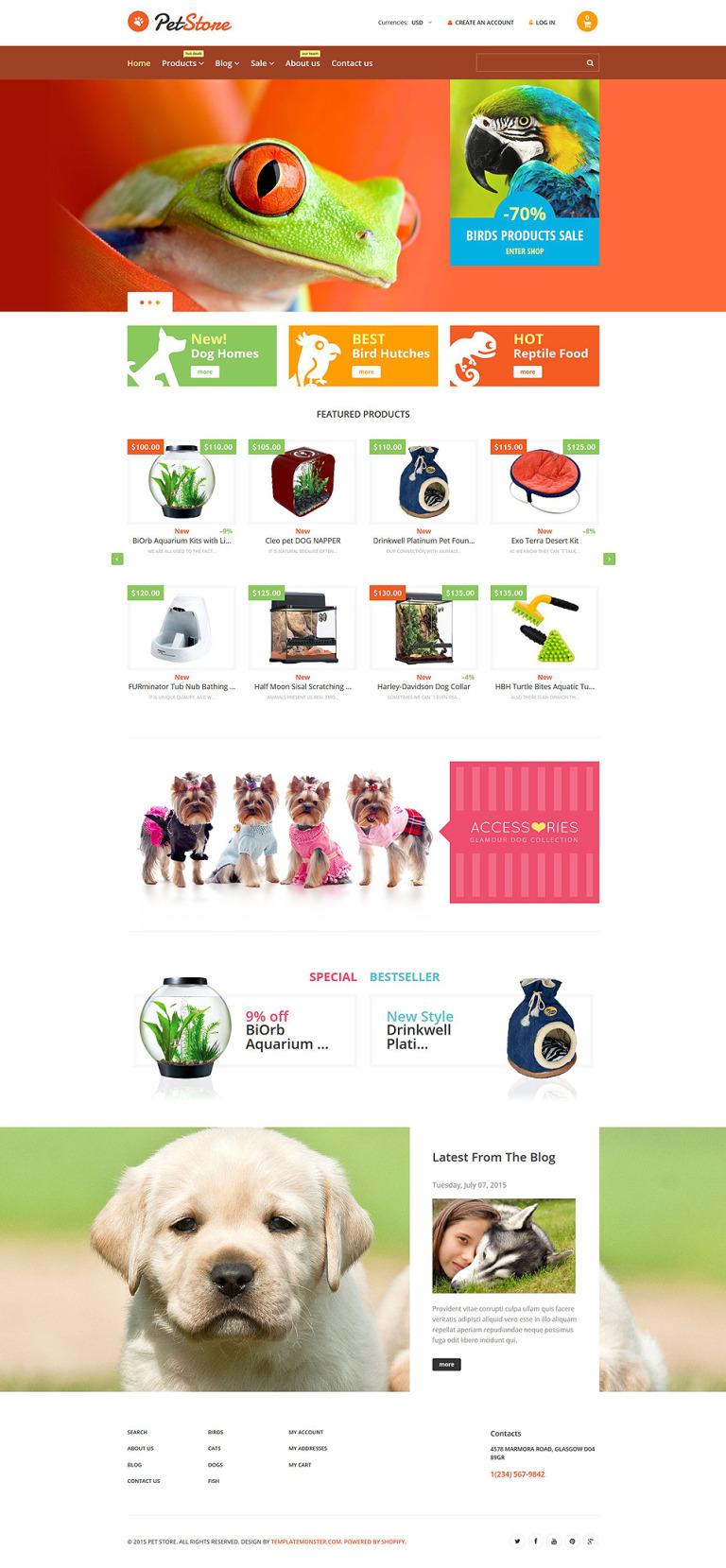 Pet Shop Responsive Shopify Theme New Screenshots BIG