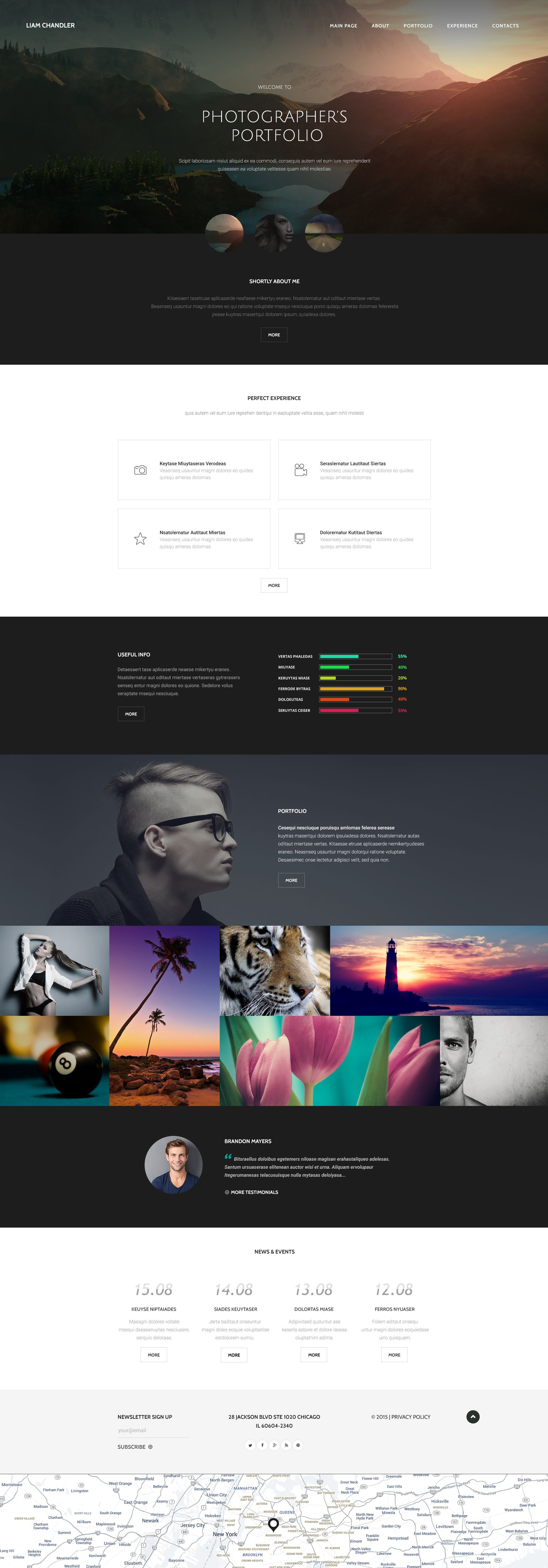 Photographer Portfolio Website Template - screenshot