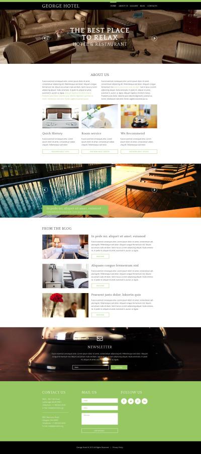 Plantilla Drupal para Sitio de Hoteles #55120
