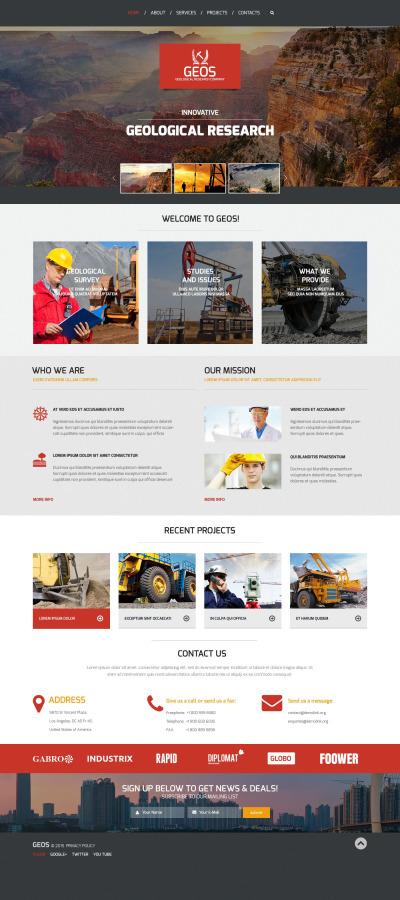 Responsive Plantilla Web #55198 para Sitio de  para Sitio de Industria