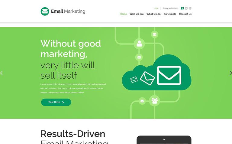 Plantilla Web #55153 para Sitio de Servicios de correo electrónico