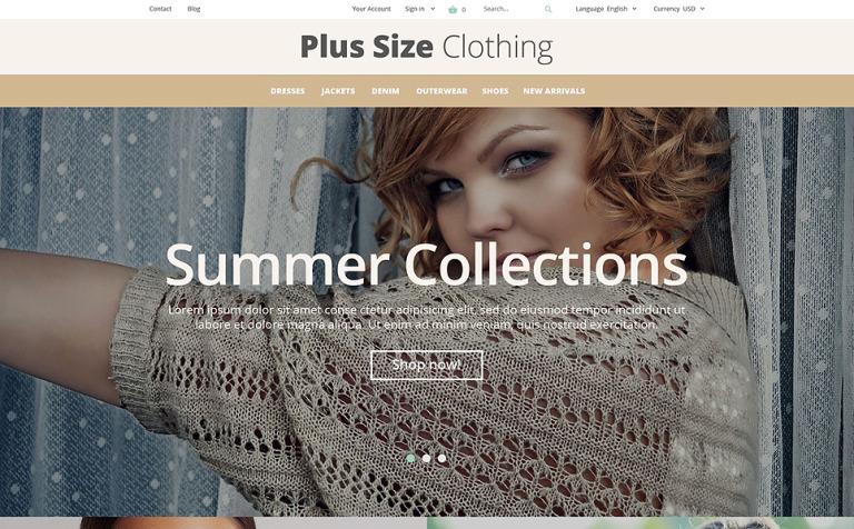 Plus Size Clothing PrestaShop Theme
