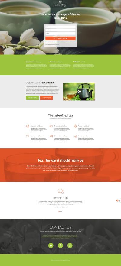 Tea Shop Responsive Açılış Sayfası Şablonu