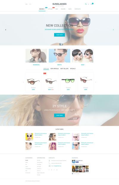 Eye Glasses Responsive PrestaShop Teması