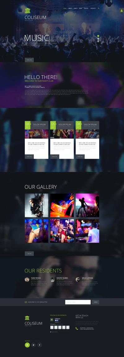 Responsive Joomla Vorlage für Nachtclub