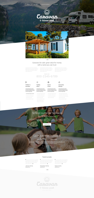 Responsive Leisure Park Web Sitesi #55106 - Ekran resmi